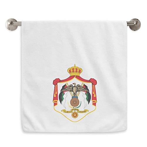 DIYthinker Jordan Asia Emblema Nacional Circlet Blanca Toallas Toalla Suave paño de 13X29 Pulgadas 13 x 29 Pulgadas Blanco