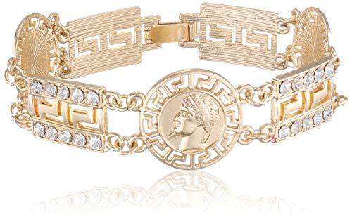 Urban Classics Unisex Armband Fancy Bracelet Kragenknopf, Gold 00109, Medium (Herstellergröße: S/M)