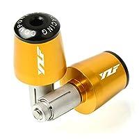 オートバイのバーエンド CNC22MMハンドルバーグリップハンドルバーキャップエンドプラグ ヤマハYzfR125 R3 Yzf-r125 Yzf R6R1ヤマハYzf250 Yzf-r1 Yzf-r3 Yzf-r6に適しています (Color : Gold)