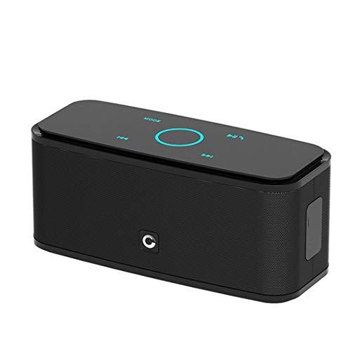 Release Altavoz Bluetooth portátil inalámbrico, Altavoz Bluetooth de Control táctil 2 * 6w Altavoz inalámbrico portátil Altavoz de Audio bajo y micrófono Incorporado (Color : Black)