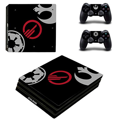Adventure Games PS4 PRO - Star Wars, Battlefront, Limited Edition - Playstation 4 Vinyl Console Skin Decal Sticker + 2 Controller Skins Set
