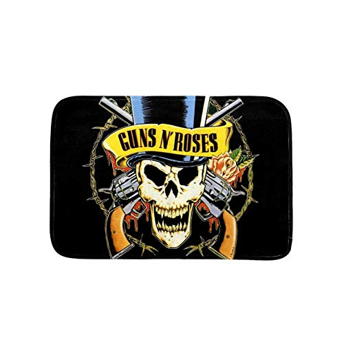 Guns and Roses Non-Slip,Wear-Resistant Small doormats, Cute Children's mats for Indoor and Outdoor 79x51cm/31x20in