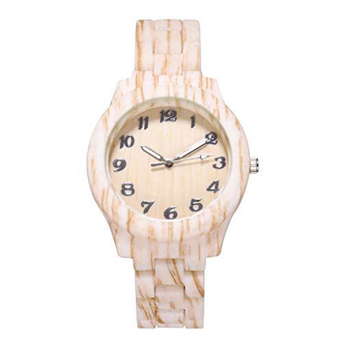 Yivise Hombres Moda Reloj Grano de Madera Reloj de Pulsera d