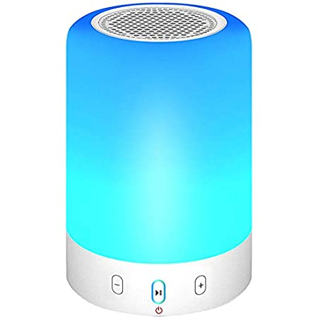 night light bluetooth speaker portable wireless bluetooth speaker 6 color led themes bedside table light smart touch control color changing stereo