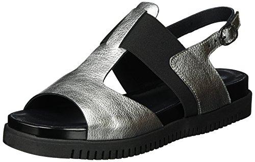 LiliMill Damen Yoga Slingback Sandalen, Silber (Acciaio), 38 EU