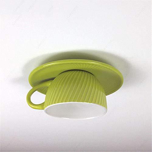 Keramik Tasse Deckenleuchten Moderne Bunte Deckenbeleuchtung Lampe Schlafzimmer Esszimmer Leuchten Home Decor-Grün Deckenlampe