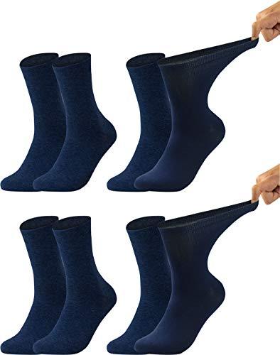 Vitasox 31123 Herren Gesundheitssocken extra weiter Bund ohne Gummi, Venenfreundliche Socken mit...