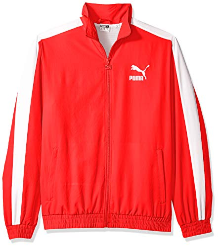 PUMA Herren Iconic T7 Track Jacket Woven Übergangsjacke, High Risk Red, Klein