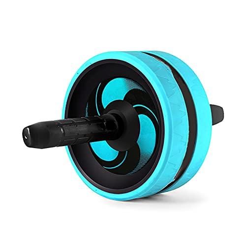 HYMD Ruota Addominali Nessun Rumore Ab Roller Abdominal Roller Home Gym Esercizio formatore Muscolare Fitness per Creare Muscoli Addominali (Color : Blue)