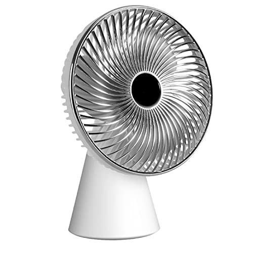 YUANYI Ventilador De Escritorio Silencioso USB Personal PortáTil Ventilador Pc Potente Flujo De Aire, 3 Velocidades, Cabezal Ajustable para El Hogar Y La Oficina,Simplewhite
