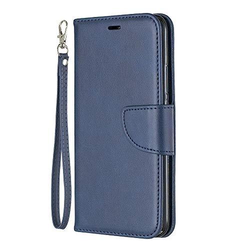 Zl One Compatível com/Substituição para Capa de telefone Huawei Mate 20 Lite PU Couro Proteção Cartão Slots Capa Carteira Flip Capa (Azul)