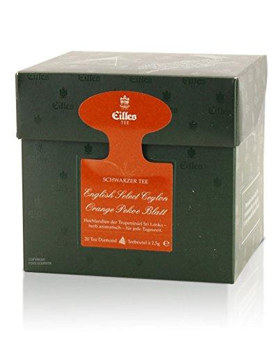Tea Diamonds English Select Ceylon Orange Pekoe Blatt 20 Pyramidenbeutel