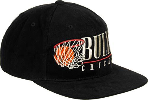 Mitchell & Ness Vintage Hoop Bulls Cap Basecap Baseballcap Snapback Flat Brim NBA-Cap Chicago (One Size - schwarz)