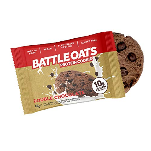Battle Oats Protein Cookies Soft Baked, 12 x 60 g - Double Chocolate