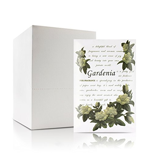 Feel Fragrance Scented Sachet for Drawers and Closets - Sachet Bags, Lot of 12 (Gardenia)