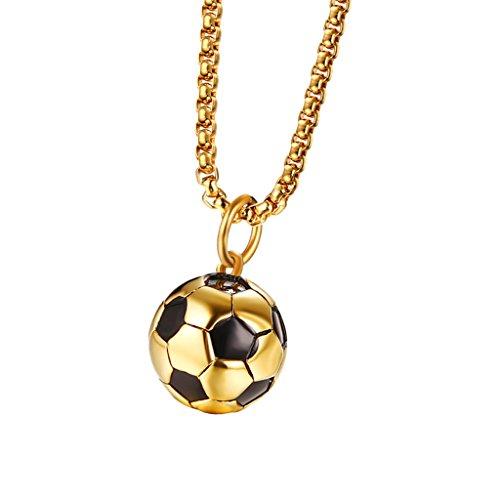 Colcolo Collares de Fútbol con Colgantes de Una Sola Piedra para Damas, Cumpleaños de Mujeres