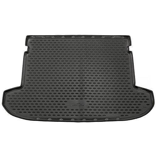 Novline MAT206 Kofferraummatte aus Gummi, maßgeschneidert, Schwarz