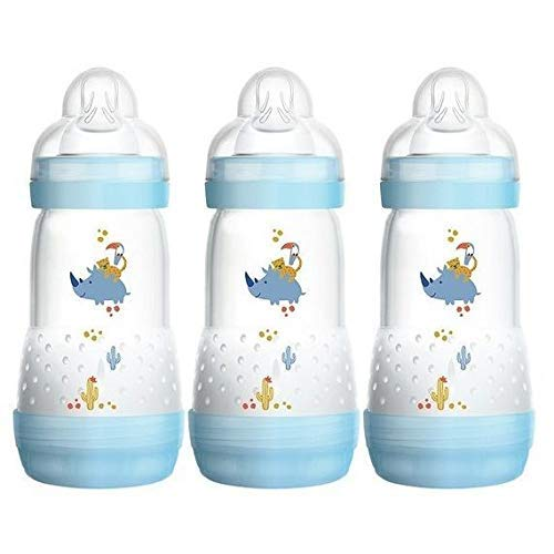 Anti-colic Self Sterilising Bottles 260ml Blue-3pack by Imports