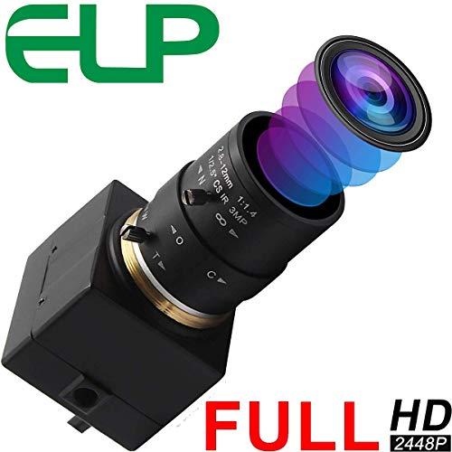 ELP 8MP Webcam 2.8-12mm Manuell Objektiv mit Variable Fokus HD Kamera USB USB8MP02G-SFV(2.8-12mm)