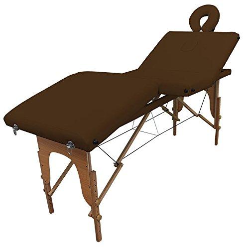 Table de massage Bois Pliante 4 zones livrée avec accessoires - Revêtement marron foncé - Qualité CE - Garantie 2 ans - Utilisation professionnelle ou personnelle. Satisfait ou remboursé. Achat groupé revendu à l'unité pour un prix compétitif.