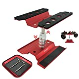 Nuofan RC Car Work Stand Aluminum Repair Workstation 360 Degree Rotation Lift Lower w/Screw Tray for 1/8 1/10 1/12 1/16 Scale Traxxas TRX4 Axial Arrma Redcat Losi RC Crawler Monster Truck Buggy