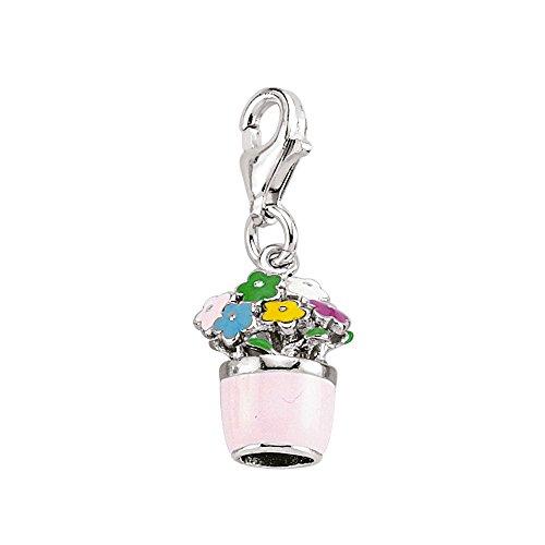 Jewelco Londres rodio revestido de plata esterlina de múltiples flores de cristal...