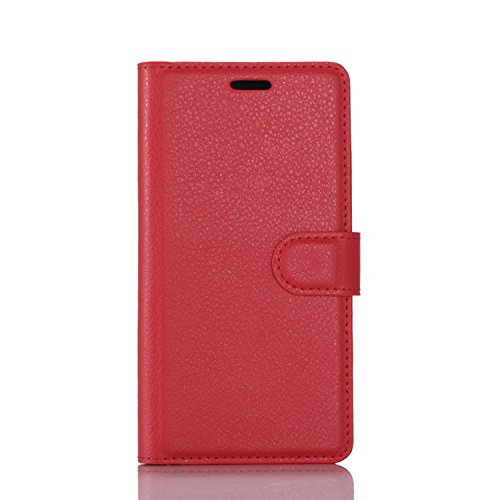 Tasche für Wileyfox Swift 2 / Swift 2 Plus Hülle, Ycloud PU Kunstleder Ledertasche Flip Cover Wallet Case Handyhülle mit Stand Function Credit Card Slots Bookstyle Purse Design rote