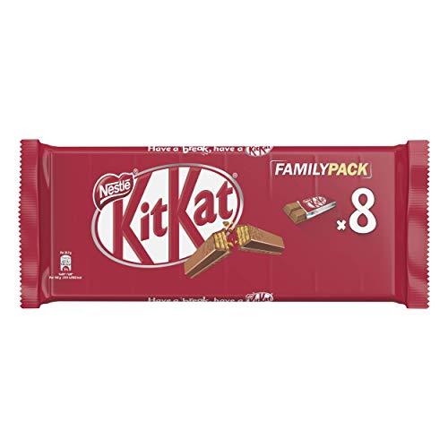 KitKat Nestlé Family Pack Wafer Ricoperto di Cioccolato al Latte, 8 Snack da 20.7 g