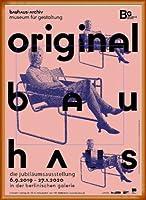 ポスター バウハウス Original frau mit maske 額装品 ウッドベーシックフレーム(オレンジ)
