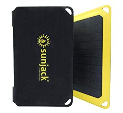 SunJack 15 Watt Foldable ETFE Monocrystalline Solar Panel Charger with USB for Cell Phones, Tablets and Portable for Backpacking, Camping, Hiking and More