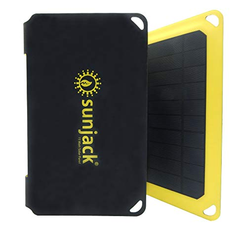 SunJack 25W Solar Charger Portable Solar Panel with USB for Cell Phones, Tablets for Backpacking, Camping, Hiking and More