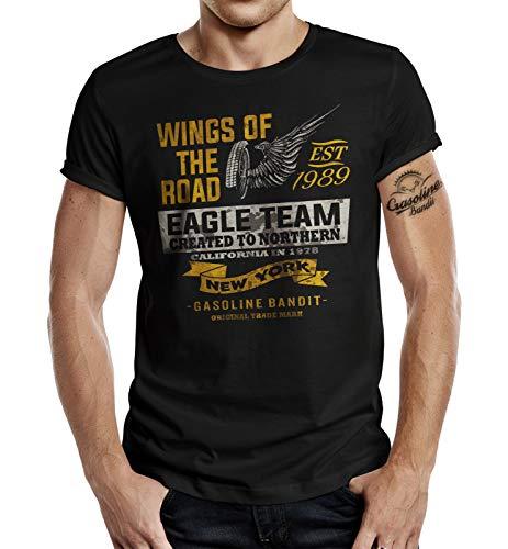 Racer Biker T-Shirt: Wings of The Road L