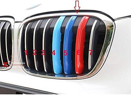 B M W X3 F25 X4 F26 2011-2018 7 bar cofano radiatore griglia strisce inserti clip M Power Sport Performance Tech Paket colore griglie tappi distintivo