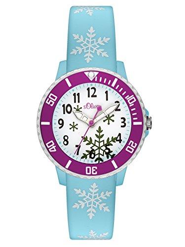 s.Oliver Time Mädchen Zeitlernuhr Quarz Uhr mit Silikon Armband SO-3411-PQ