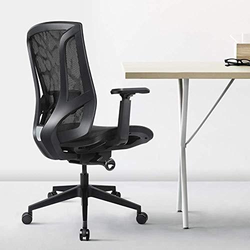Kaper Go Ergonomische Büro-Schreibtisch-Stuhl mit Breathable Ineinander greifen und 3D verstellbaren Armlehnen Computer Stuhl höhenverstellbar jeden Winkel Zurück einstellbar 135 ° Tilt Tension - Schw