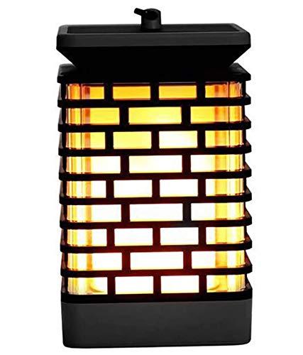 FEE-ZC LED solcell flamma ljuskrona utomhus sollykta hängande ljus vattentät fyrkantig skymning till gryning automatiskt öppna/stänga trädgård väggräsmatta