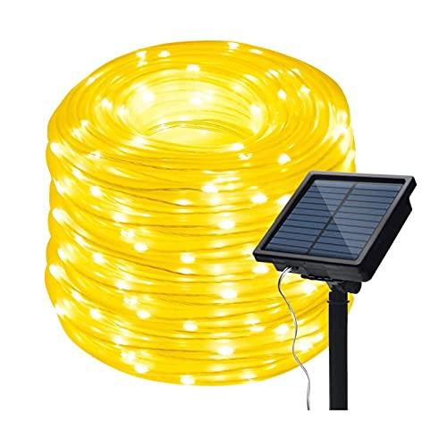 BBZZ Luces solares de cuerda al aire libre, impermeables, 200 LED, 8 modos, tubo de alambre de cobre, centelleo de hadas para decoración del hogar, boda, patio, jardín, fiesta, decoración