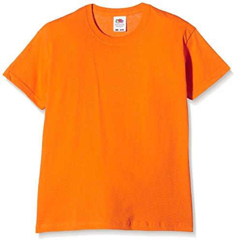 Fruit of the Loom Original T. Maglietta, Arancione (Orange), 5-6 anni (Taglia produttore:26) Bambini e Ragazzi^Bambine e Ragazze