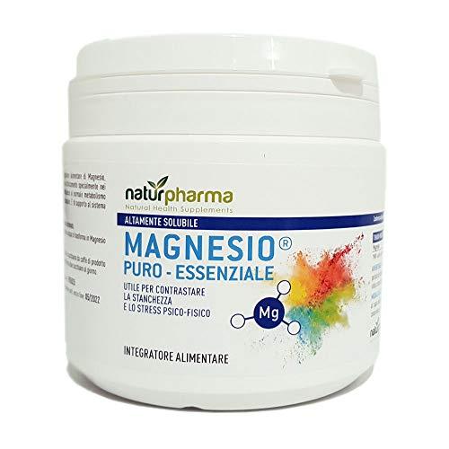Magnesio Puro Essenziale Naturpharma Barattolo 300 gr| Magnesio Puro Equivalente Risparmia | Altamente Solubile | Utile per Contrastare la stanchezza e lo stress psico-fisico