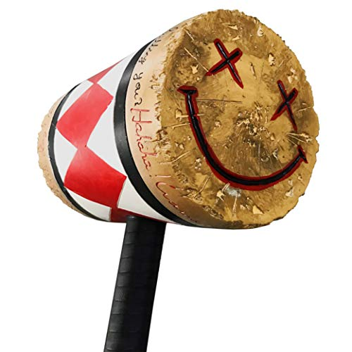 Harley Quinn Mallet Cosplay Latex Harley Quinn Hammer Weapon Accessory Halloween Costume Prop