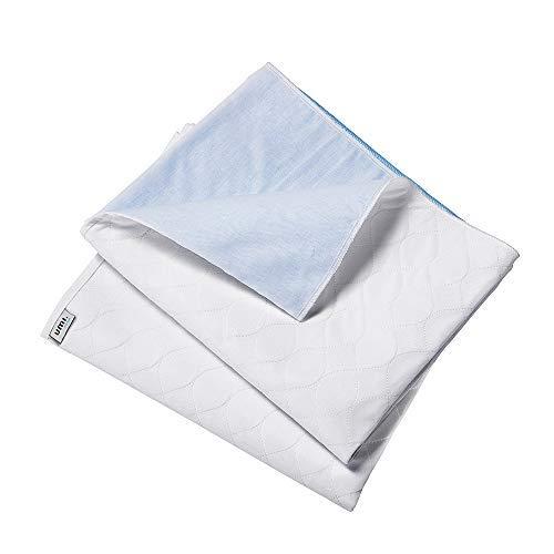 UMI. Essentials Doppelpack Wasserdichte Saugvlies Matratzenauflage, 70 x 90 cm, Generation, Weiß