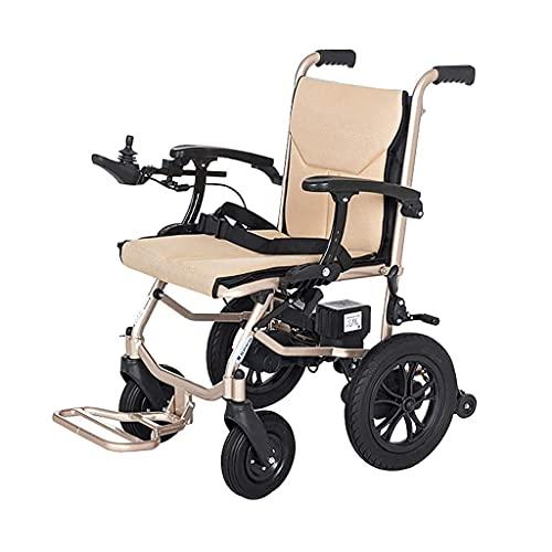 Sedia a rotelle elettrica per Adulto Pieghevole Leggera Struttura in Lega di Alluminio aeronautico più Forza aggiornata più sicura