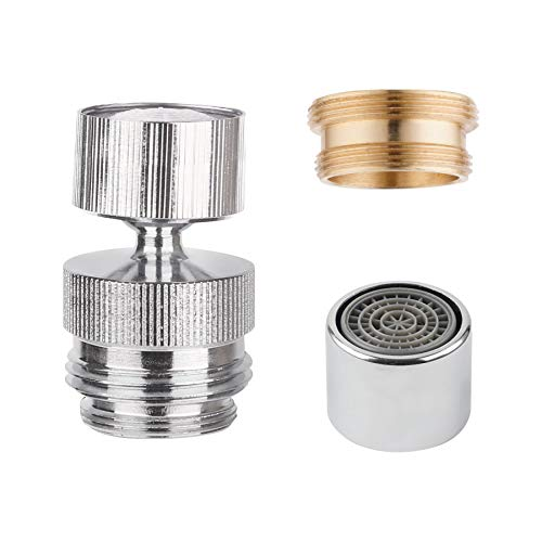 Swivel Faucet to Garden Hose Adapter Kit, Multi-Thread Garden Hose Adapter with Removal Faucet Aerator, 360-degree Swivel Faucet Adapter Connect Hose to Sink, Female Sink to Hose Faucet Adapter