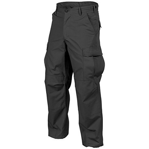 Helikon Genuine BDU Trousers Polycotton Ripstop Black Size M Long