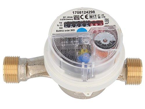 ALLMESS Aufputzwasserzähler System V +m, Wohnungswasserzähler warm/kalt (130 mm - Kaltwasser)