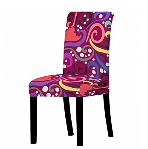 Cubierta de silla elástica antisucio para bodas, fiestas, hogar, cocina, comedor, oficina, color flor