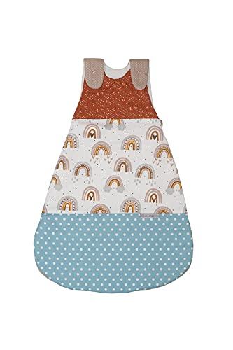 ULLENBOOM ® Schlafsack Baby ganzjährig 4 bis 10 Monate 68/74 Regenbogen (Made in EU) - Baby Schlafsack ganzjährig für Frühling, Herbst und Winter, Babyschlafsack mit Motiv: Sterne