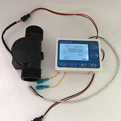 "Flowmeter ZJ-LCD-M Flow Meter Controller+1.25""Hall Flow Sensor DN32+NTC Temperature Sensor"