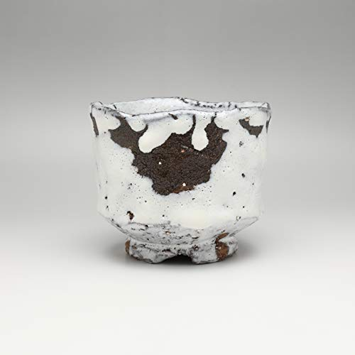 Best Prices! White hagi matcha chawan teabowl made by Kiyoshi Yamato.Japanese pottery Hagi ware.
