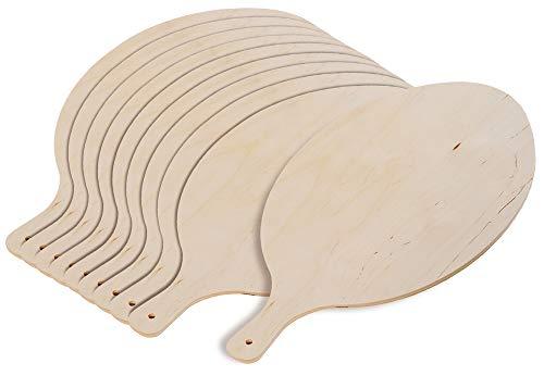 10er SET KESPER 68206 Flammkuchenbrett aus mehrfach verleimten Birkenholz, naturbelassen / 38 x 30 x 0,8 cm/Pizzabrett